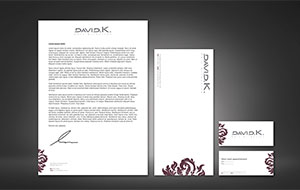 David K Hair Direction branding