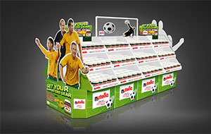 Nutella Socceroos display unit